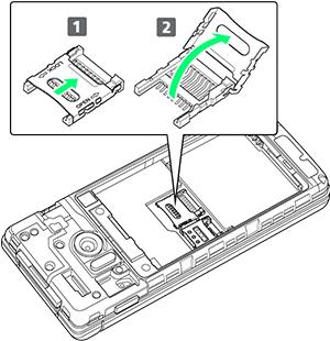 SDカードスロットカバーを開く